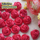 Red 15mm Polyester Rose Trimming Sewing Scrapbooking Appliques HB15-250