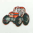 Orange Tractor Sew/Iron On Patches 65mm R0899-1