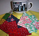Handmade Fabric Coasters Car Pumpkin Sunflower Stars Cats Lady Bug Motorcycle