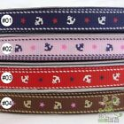 "3/8""9mm anchors blue/pink/red/brown Grosgrain RIBBON 5 yard"