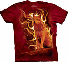 PHOENIX WOLF - Red T-Shirt - The Mountain- Tie Dyed Tee -100% Cotton-10-3075 NEW
