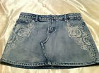 Girls' Arizona Light Denim Skirt/Skort Plus Sizes 10 1/2, 12 1/2, 14 1/2, 18 1/2