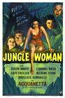 JUNGLE WOMAN 01 VINTAGE B-MOVIE REPRODUCTION ART PRINT A4 A3 A2 A1
