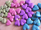 10 x 23x21mm acrylic HEART beads ~ PASTEL CRACKLE ~ choice of colours