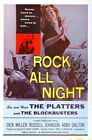 ROCK ALL NIGHT 01 VINTAGE B-MOVIE REPRODUCTION ART PRINT A4 A3 A2 A1