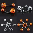 1/10/20/50 Pc Football Basketball UV Stainless Steel Piercing Belly Navel Rings