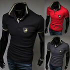 New Mens Fashion Korean Style Slim Leisure Short Sleeve Polo Shirts