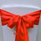 Red Satin Chair Cover Bow Sash Wedding Party Decor Banquet WED-SCS-98