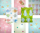 VINYL PVC Retro Print LIME pink BLUE white TEA TIME cupcake polka dot TABLECLOTH