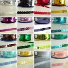 3 YARDS/100 YARD  flat SEQUINS TRIM 6 mm wide Continous U pick 16 colors options