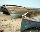 OLD BOATS IN THE BEACH BS299 REPRODUCTION POSTER ART PRINT A4 A3 A2 A1