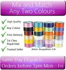 "2 x 100 Yard Rolls of Multi-Use Floristry Ribbon Mix n Match Any Colours 2"" Wide"