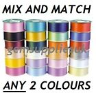 FLORIST RIBBON 2 x 10 METRES, MIX AND MATCH ANY 2 COLOURS, 50mm WIDE