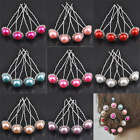 10/50pcs Crystal Pearl Hairpin Fashion Elegant 8 Colors 0282BZ