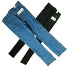 "Unisex Stretch Slim Fit Jeans Black or Stonewashed Blue Skinny HIgh Rise 28""-40"""