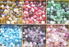 50 gr  Frosted Indian Lampwork Glass Bead Mix - Choose Colour