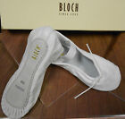 Bloch White Leather Full Suede Sole Ballet Shoes 205G&L atta