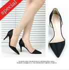 Women shoes sexy elegant slim slide sharp pointy toe side open heel dress pumps