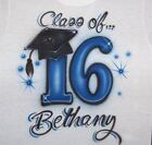 CLASS OF 16  CUSTOMIZED  FOR YOU AIRBRUSH T SHIRT S-XL..CLASS OF 2016