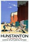 Hunstanton, Queen of the Norfolk Coast', British Railways Travel poster Print