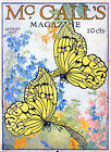 POSTER.Magazine cover.Yellow Butterflies Decor.Room Interior House Designer.872
