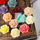 Resin Vintage Flatback Love Rose Flower Cabochon Wholesales Lots 21x21mm V-RB533