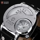Shark Army Rare Russian Military Black White Quartz Mens Leather Wrist watch
