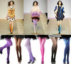 Vintage Lady Sexy 7 Ombre Watercolor Velvet Stockings Tights Leggings Pantyhose