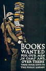 First World War Books For Troops Poster A3 / A2 Print