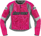 Icon Womens Overlord Sportbike SB1 Womens Attack Fit Fighter Mesh Riding Jacket