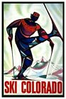 Countries Travel Poster Ski Coolorado CTP064 Art Print Canvas A4 A3 A2 A1