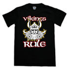 VIKING VIKINGS RULE NORSE WARRIOR GOD THOR ODIN T SHIRT ALL SIZES AND COLOURS
