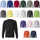 Hanes NEW 100% Cotton Long Sleeve Beefy-T T-Shirt 5186 Mens S-3XL Tee 25 COLORS