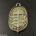 Vintage Style Bronze Tone Alloy Shield Pendant Arms Jewelry Findings 35244-101B