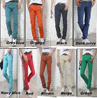 Fashion Hot Mens Stylish Skinny Stretch Casual Jeans Candy Pants
