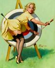 Vintage Pin-Up A Near Miss Elvgren PINUP233 Art Poster A4 A3 A2 A1
