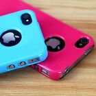 New Stylish Ultra Thin Hard Case Cover & Screen Protector For Apple iPhone 4S 4G