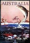 Great Barrier Coral Reef. Australia. Vintage Travel poster by James Northfield
