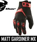 THOR DEFLECTOR ADULT MENS MOTOCROSS MX GLOVES RED ENDURO ALL SIZES
