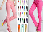 Womens Stretch Candy Pencil Pants Casual Slim Skinny Jeans Trousers 23 Color 4Sz
