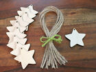 Wooden Rustic Star Craft Shapes Blank Gift Tags Hanging Decoration Labels