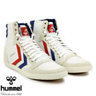 BNWB Mens Hummel Slimmer Stadil Hi White Blue and Red Trainers
