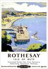 Rothesay, Isle of Bute. Vintage BR Travel Poster art print by Frank Sherwin.
