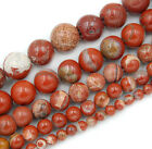 "Natural Red River Jasper Round Gemstone Beads 15.5"" 4 6 8 10 12mm Pick Size"