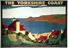 The Yorkshire Coast. LNER Vintage Travel Poster art print by Andrew Johnson 1932
