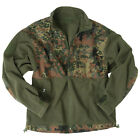TACTICAL WARM FLEECE MENS POLAR JACKET HUNTING FISHING BW ARMY FLECKTARN CAMO