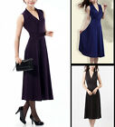 NEW Elegant Sleeveless Dress Knit Dress Mid-calf Dress #3211