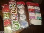 ASSORTED 12,20 ,& 100 PIECE GIFT TAGS CHRISTMAS HOLIDAY GLITTER SELF STICK