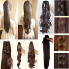 Ponytail YYY Hairpiece Hair Extension Extra Long Claw Clip in Wavy 15 Style@@