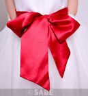 Girls Bridesmaid Satin Sash Bow Ideal Wedding Christening Girls Dress Chairs New